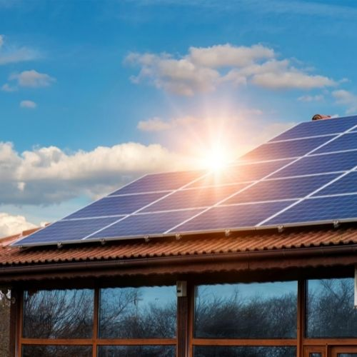 Example of solar installation in a home